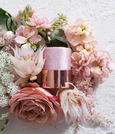 Blush Velvet + Rose Gold Ring Box - Alaia