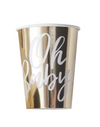 Oh Baby Gold Paper Cups