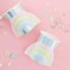 Iridescent Rainbow Shaped Cups