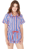 Indigo and Sleepy Pink Short Sleeve Sleep Top