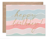 Squiggle Design Birthday Card