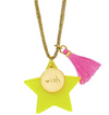 Yellow/Wish Charm Necklace