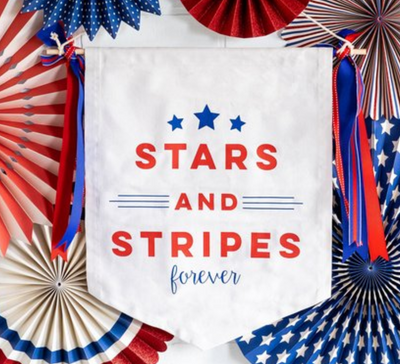 Stars and Stripes Canvas Banner