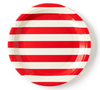 Red and White Striped Plates
