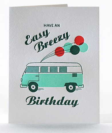 Easy Breezy Birthday Letterpress Card