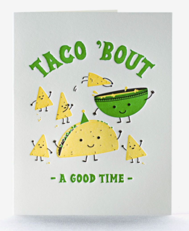 Taco Time Letterpress Card