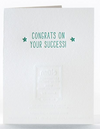 Success Star Letterpress Card
