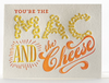 Mac and Cheese Letterpress Card