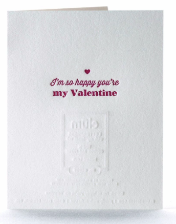Instant Love Letterpress Card