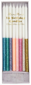 Multicolor Dipped Glitter Candles
