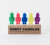 Robot Birthday Candles