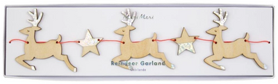 Wooden Reindeer & Star Garland