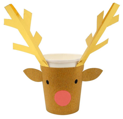 Reindeer Wrapped Cup