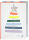 Rainbow Tree Ornament Card