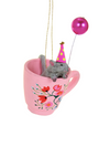 Tea Time Mouse Ornament