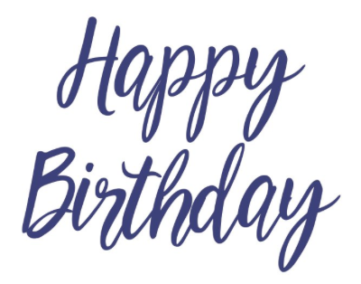 Party Banner- Happy Birthday Modern Script