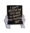 Protest Sign Pin