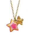 Neon Butterfly and Star Necklace