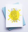 Bright Spot Day Letterpress Card
