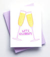 Let's Celebrate Letterpress Card