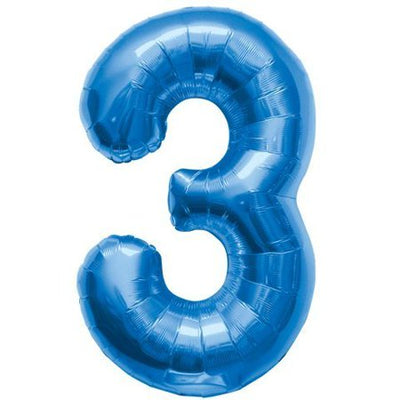 34 inch Blue Number Balloon