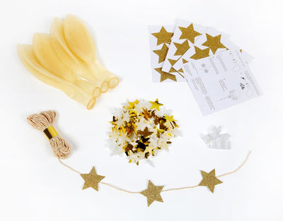 Gold Star Confetti Balloon Kit