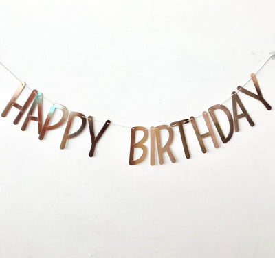 Happy Birthday Party Banner - Thin