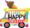 Happy Birthday Ice Cream Truck Mylar