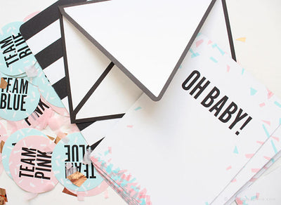 Oh Baby print-on invitations