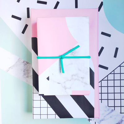 Pink Grid Gift Wrap