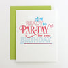 Get Ready to Partay Letterpress Card