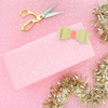 Pink Snowfall Wrapping Paper