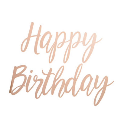 Happy Birthday- Party Banner Cursive Script