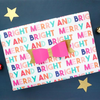 Merry and Bright Holiday Wrapping Paper