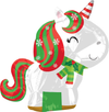 Holiday Unicorn Balloon 21""