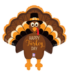 Happy Turkey Day Balloon- 30""