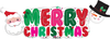 Merry Christmas Banner Balloon 41""