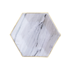 Marble Hexagon Plates