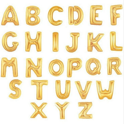 16 inch Gold Letter Balloon
