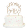 Welcome Baby Wood Cake Topper