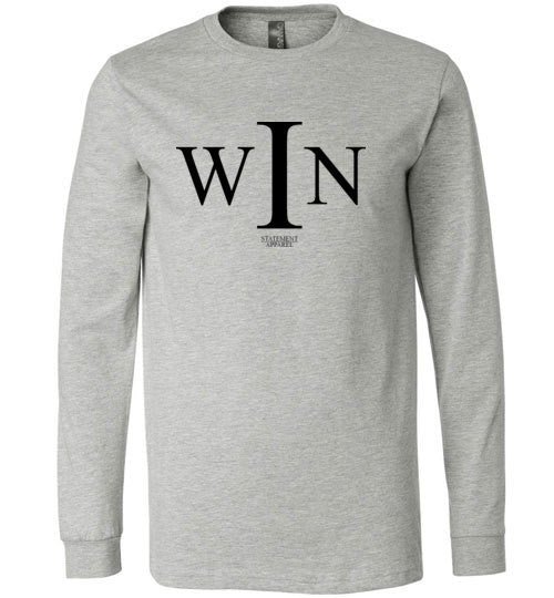 I Win, Adult Long Sleeve Shirt - STATEMENT APPAREL  - 2