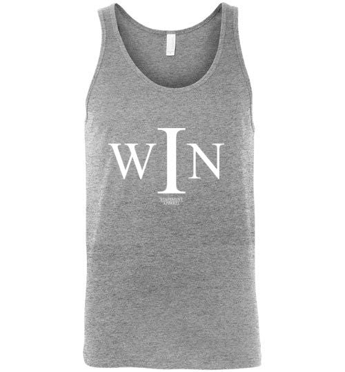 I Win, Adult Cotton Tank Top - STATEMENT APPAREL  - 3