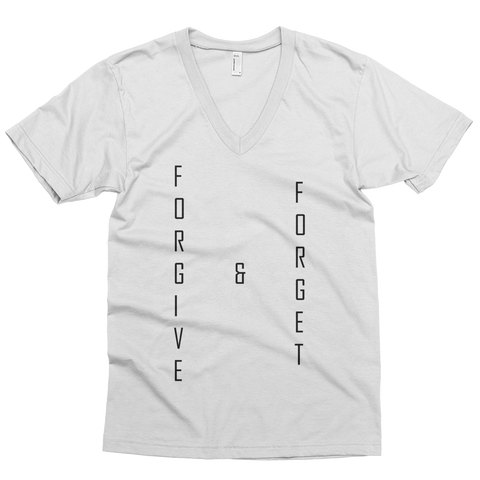 Forgive & Forget, V-Neck T-Shirt (Adult) - STATEMENT APPAREL  - 4