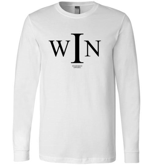 I Win, Adult Long Sleeve Shirt - STATEMENT APPAREL  - 1