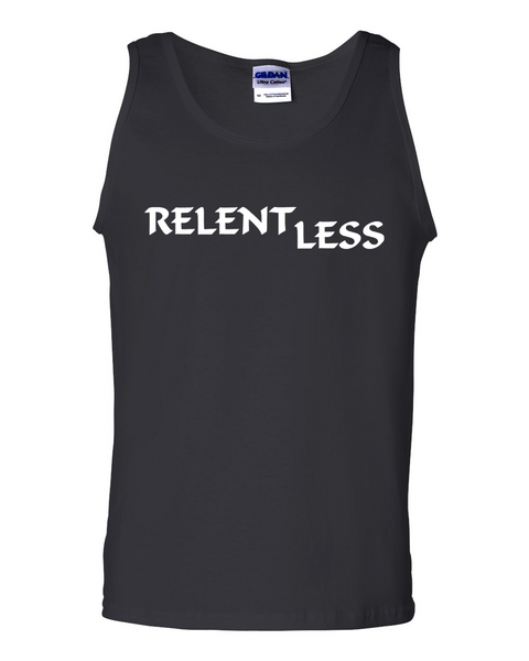Relent Less, Adult Cotton Tank Top - STATEMENT APPAREL  - 5