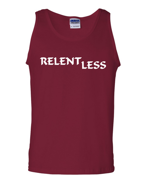 Relent Less, Adult Cotton Tank Top - STATEMENT APPAREL  - 3