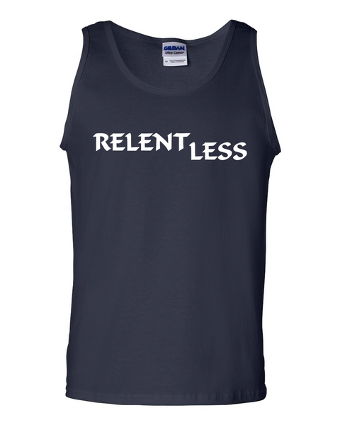 Relent Less, Adult Cotton Tank Top - STATEMENT APPAREL  - 1