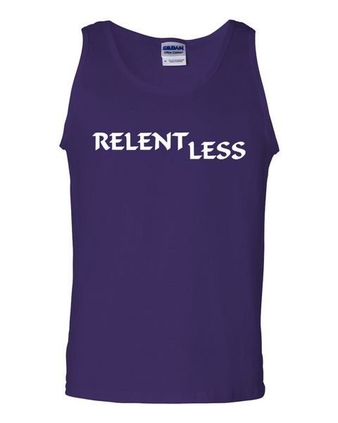 Relent Less, Adult Cotton Tank Top - STATEMENT APPAREL  - 2