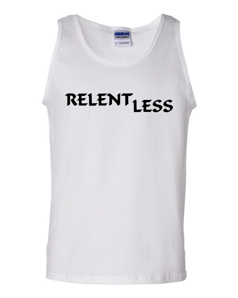 Relent Less, Adult Cotton Tank Top - STATEMENT APPAREL  - 4