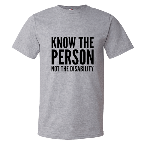 Know The Person, Not The Disability; Youth T-Shirt